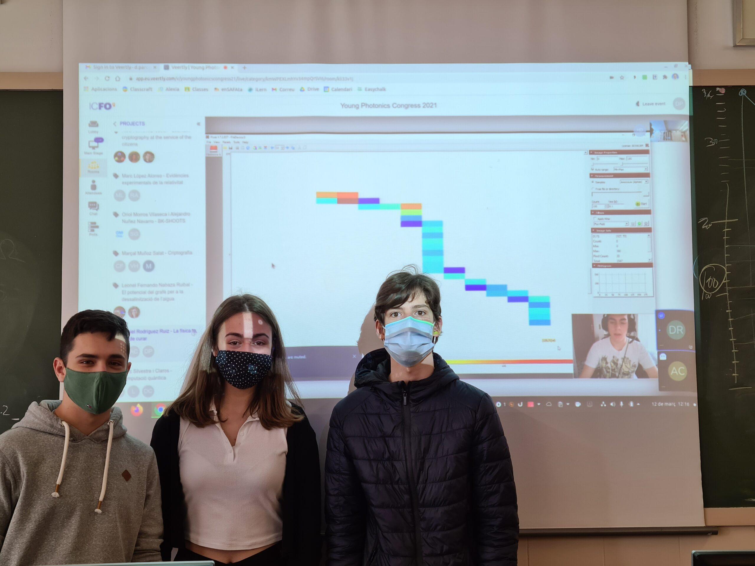 Alumnes del batxillerat científic-tecnològic participen al Young Photonic Congress del ICFO.