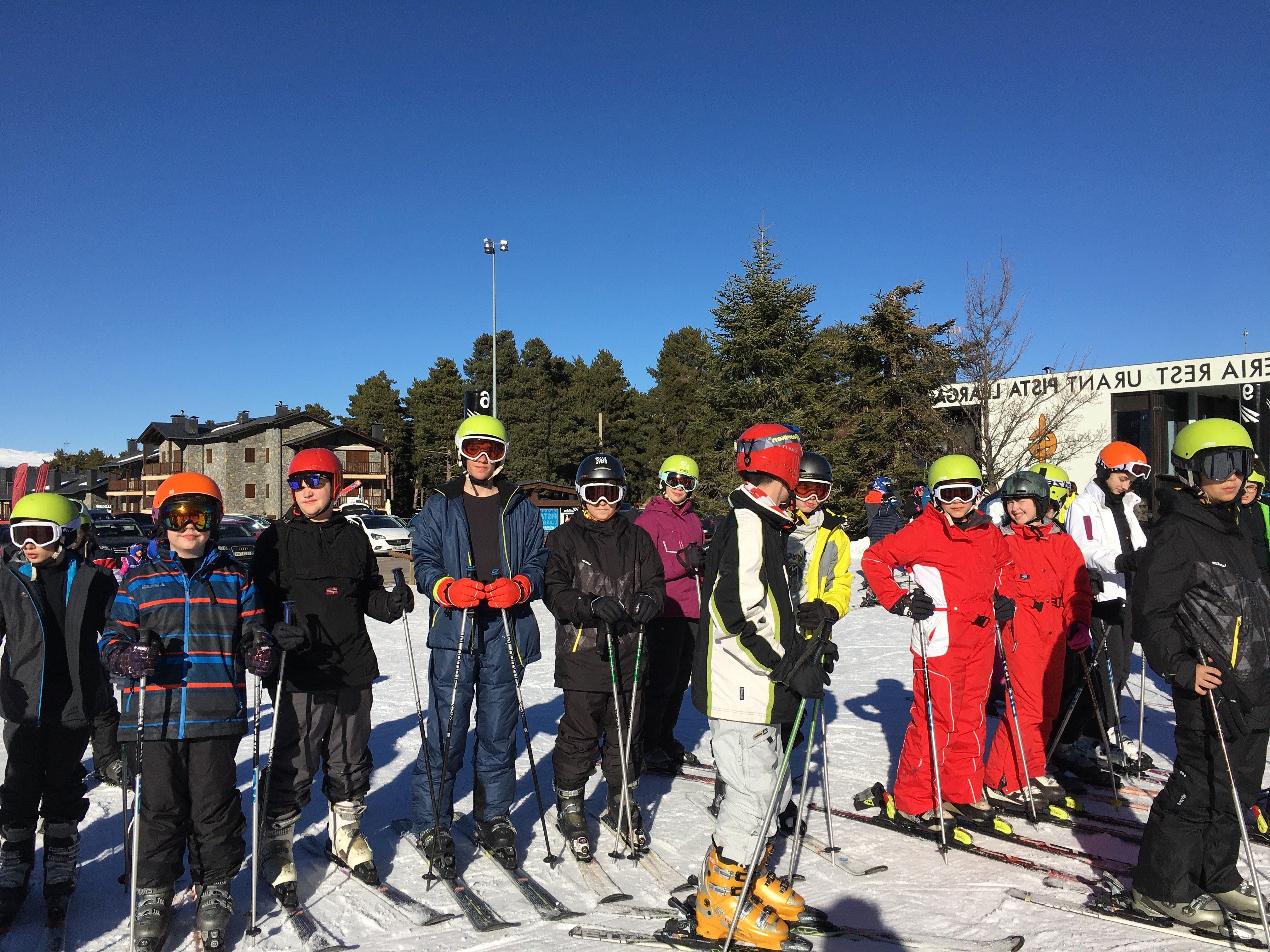 Esquiada 1º de ESO en la Molina