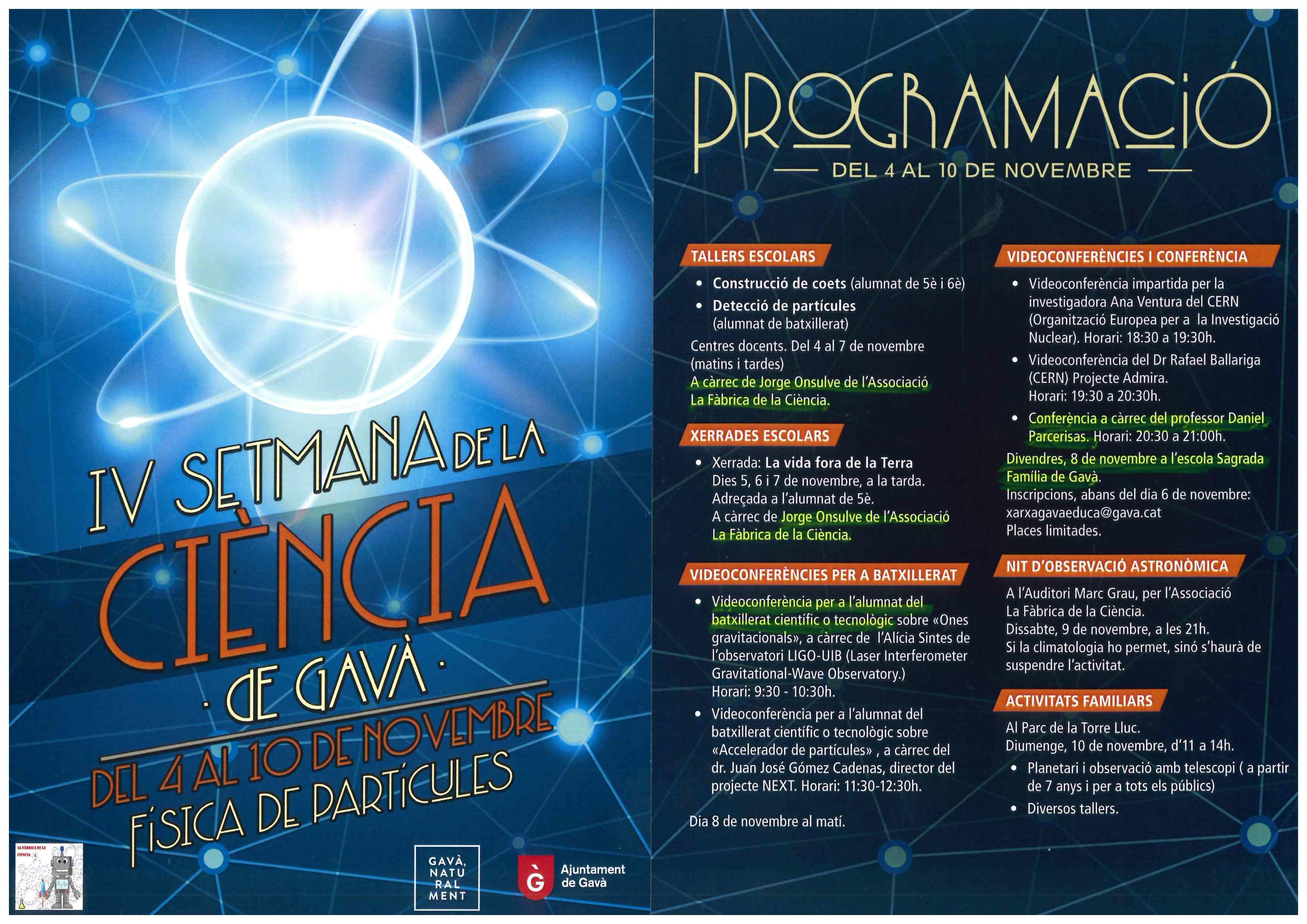 IV Setmana de la Ciència de Gavà